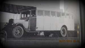The school bus that carried Martin Lehman for eight years to the South Hamilton Township School.