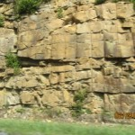Layered rock in the mountains of western Pennsylvania