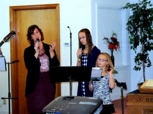 The ladies on the worship team
