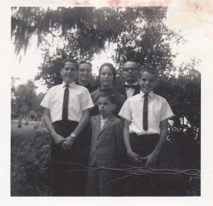 The Brenneman family in 1966.  Father and youngest son are deceased. From left to right, David, Mary Katheryn, Grace, and James