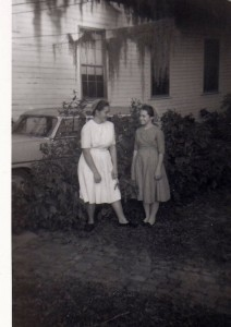 A Friend & Rachel forty or fifty years ago