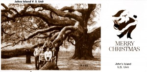 A christmas cad picturing the Angel Oak