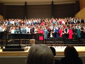The Center of the Mass Choir as it takes the platform
