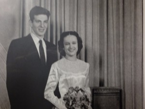 David and Joyce on Wedding Day