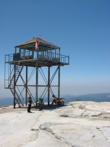 Tower on Bald Mountain overlooking Shaver Lake. Best remembered tower